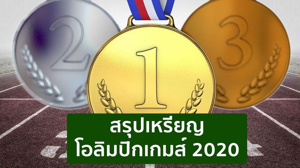 สรุปเหรียญทอง โอลิมปิก 2020 ตารางเหรียญนักกีฬาไทย ล่าสุด