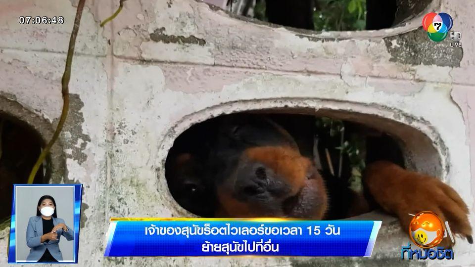 เจ้าของสุนัขร็อตไวเลอร์ขอเวลา 15 วัน ย้ายสุนัขไปที่อื่น