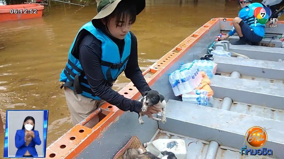 กู้ภัยเร่งช่วยสุนัขเกือบ 80 ตัว ติดน้ำท่วมในสำนักสงฆ์