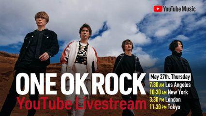 27 พฤษภาคมนี้ ห้ามพลาด! ครั้งแรกของ ONE OK ROCK กับการไลฟ์สตรีมมิงสดๆ ให้ได้ชมกันทาง YouTube