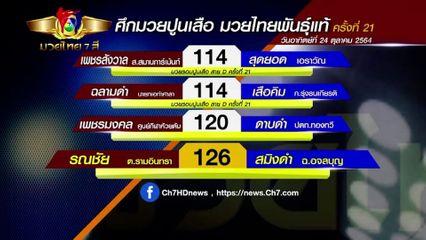 มวยเด็ด วิกหมอชิต : โปรแกรมมวยไทย 7 สี วันอาทิตย์ที่ 24 ตุลาคม 2564