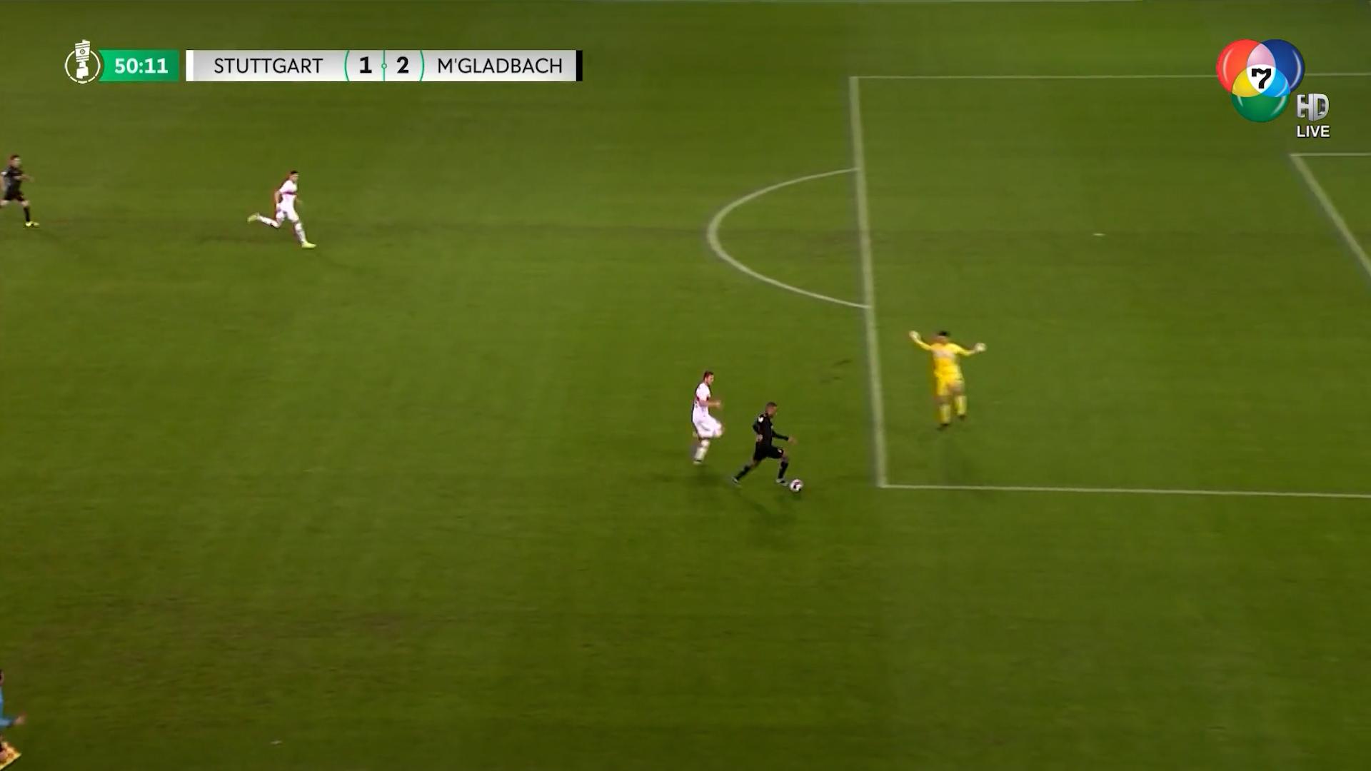 ไฮไลต์ฟุตบอลเดเอฟเบ โพคาล สตุตการ์ต 1-2 โบรุสเซีย มึนเชนกลัดบัค